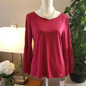 Ivanka Trump burgundy top. Size small.